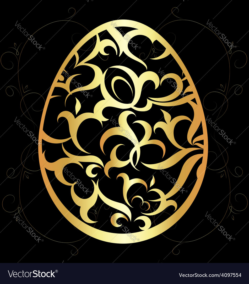 Easter egg with a pattern vector