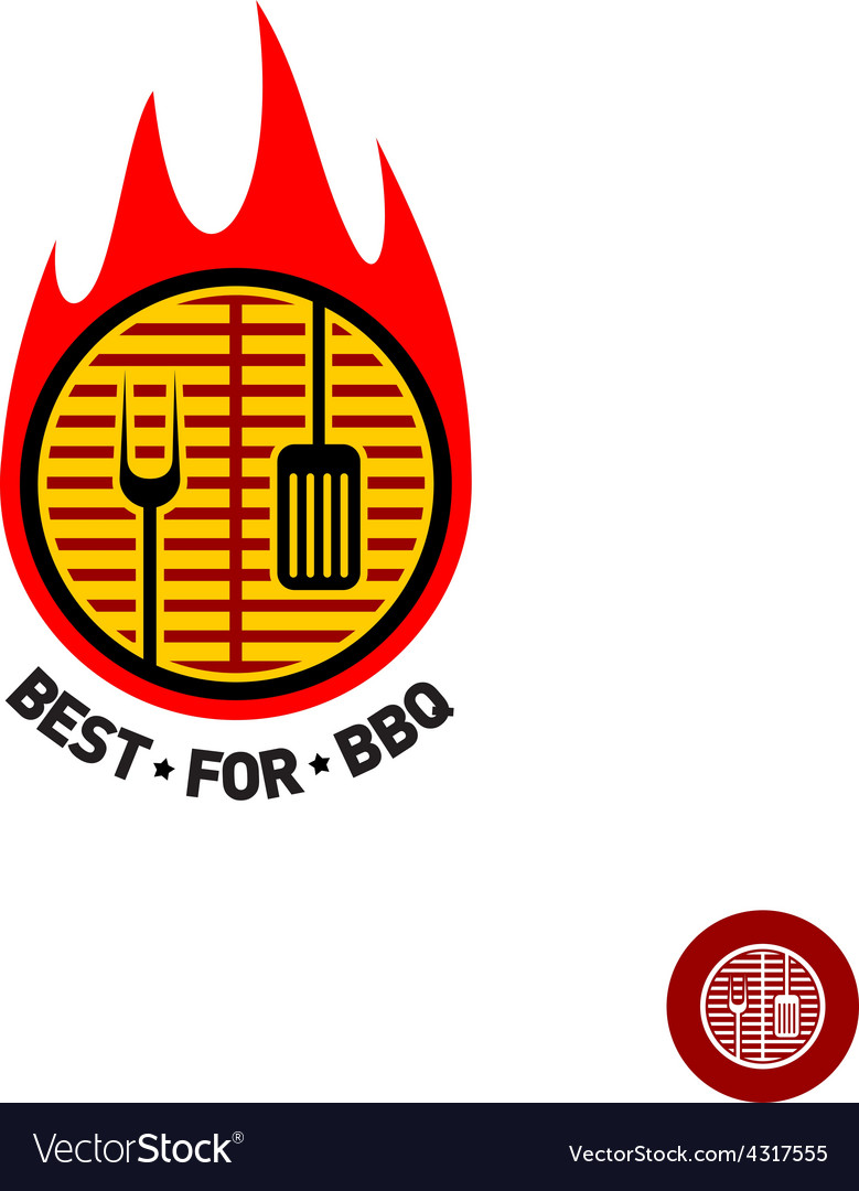 Barbeque sign vector