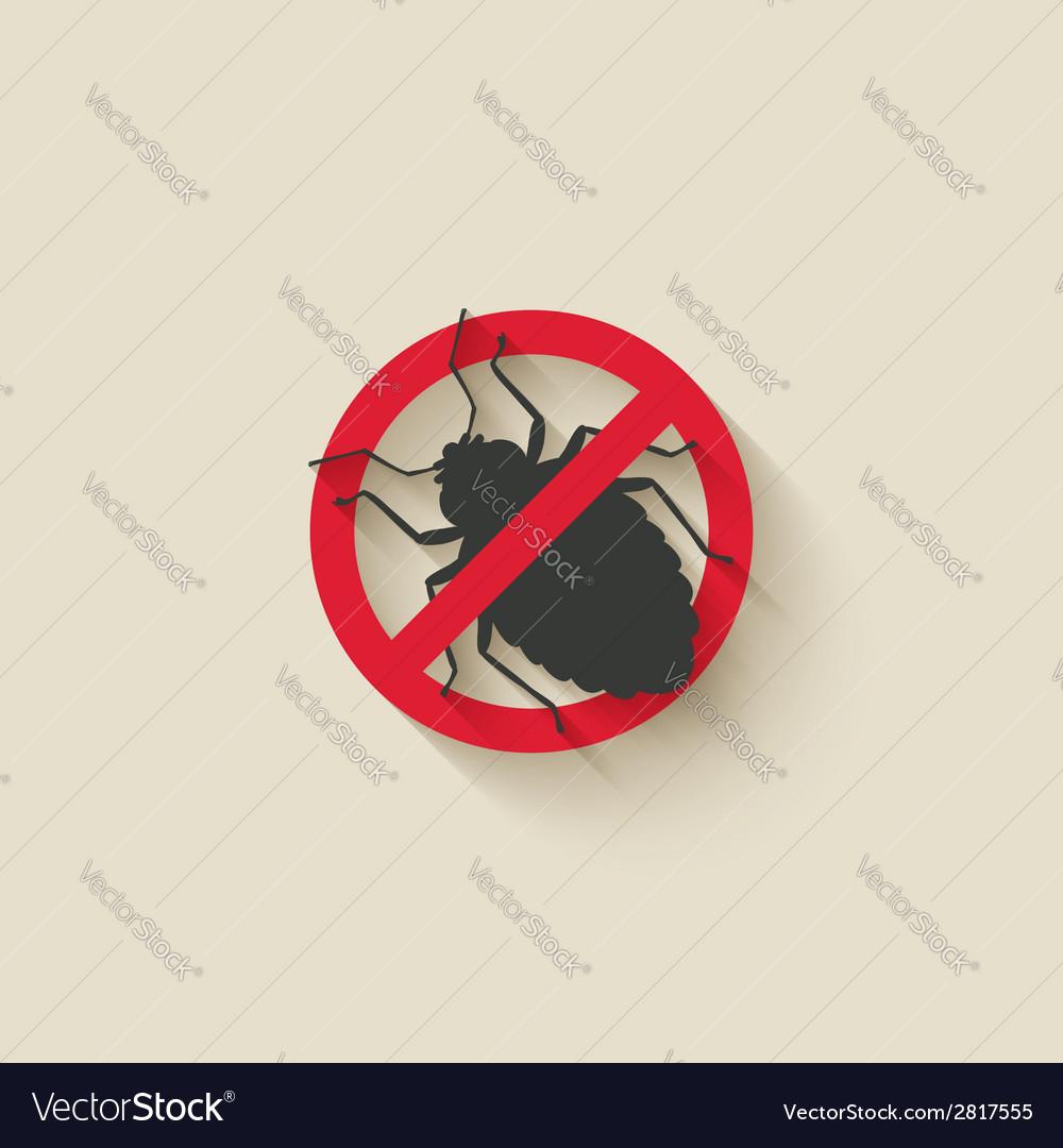 Bug warning sign vector