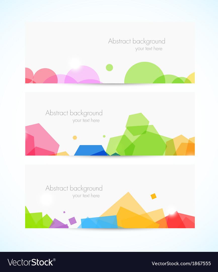 Set of geometric banners vector