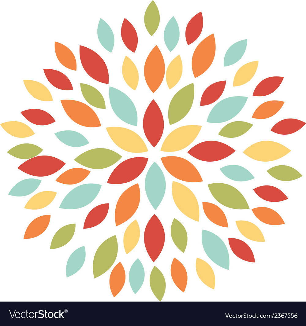 Abstract blooming blossom flower vector