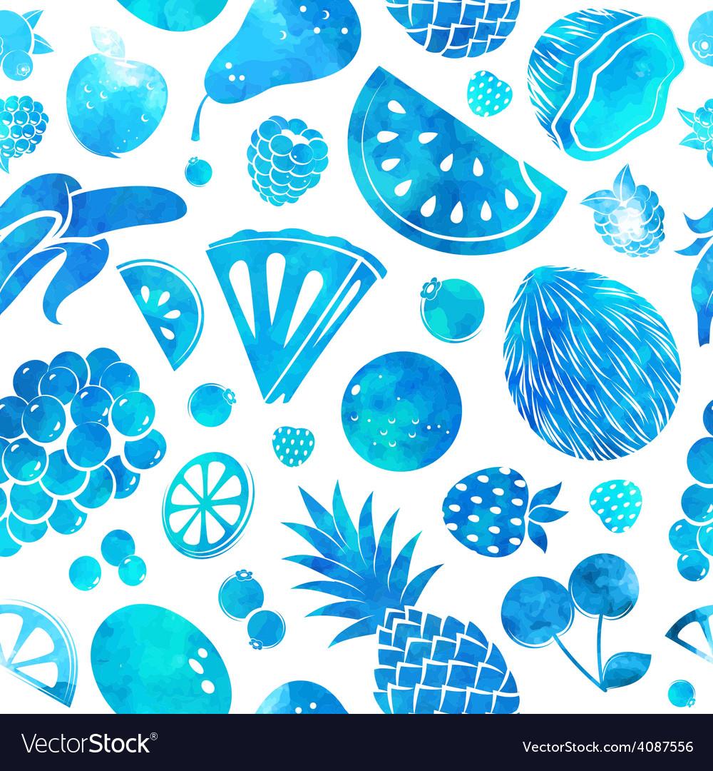Hand drawn vintage fruit seamless vector