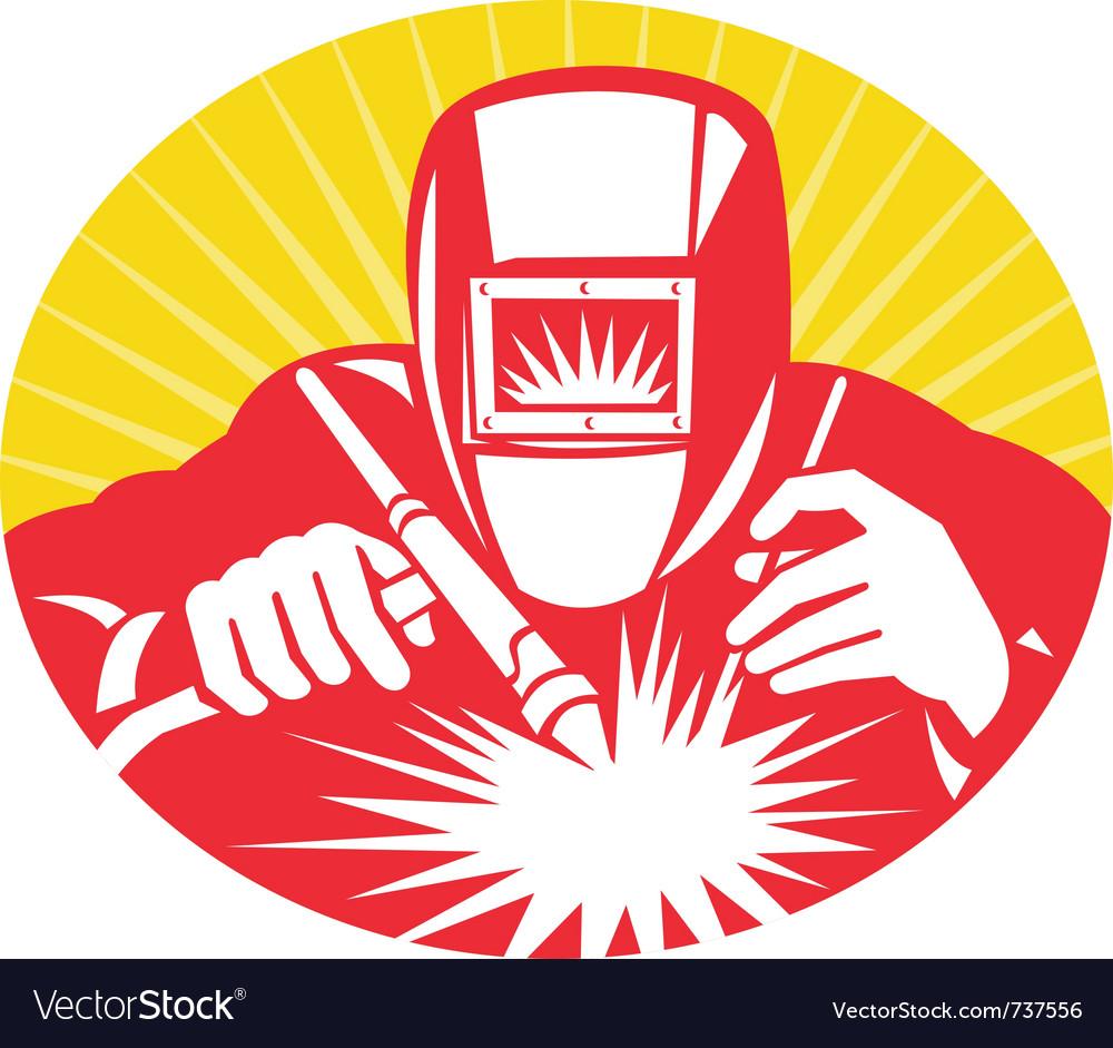 Welder fabricator vector