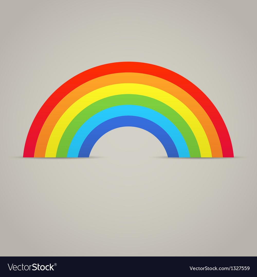 Trendy rainbow creative icon design vector