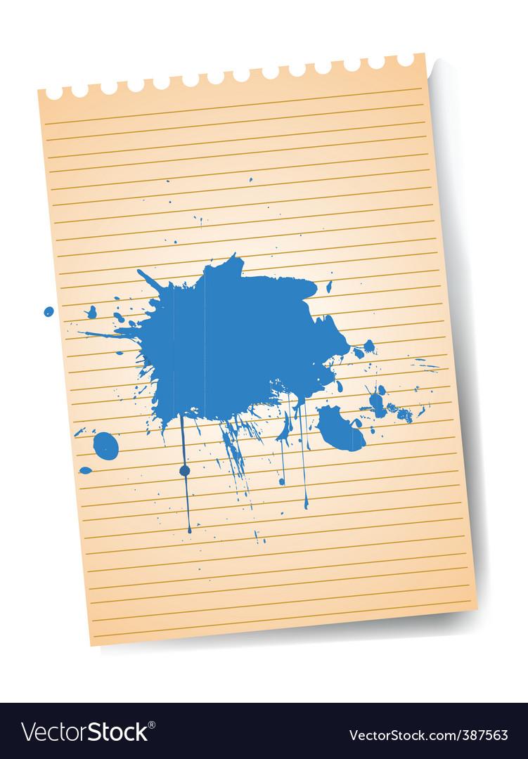 Notepad with splatter vector