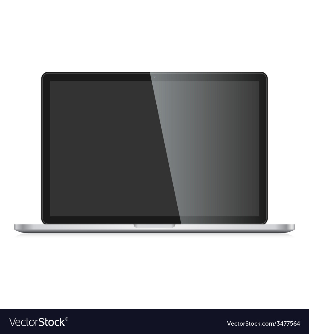 Imac pro isolated on white background mac air vector