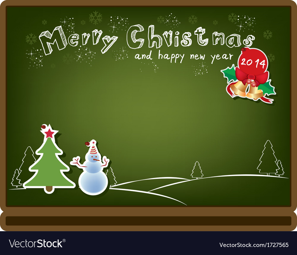 Christmas board background vector
