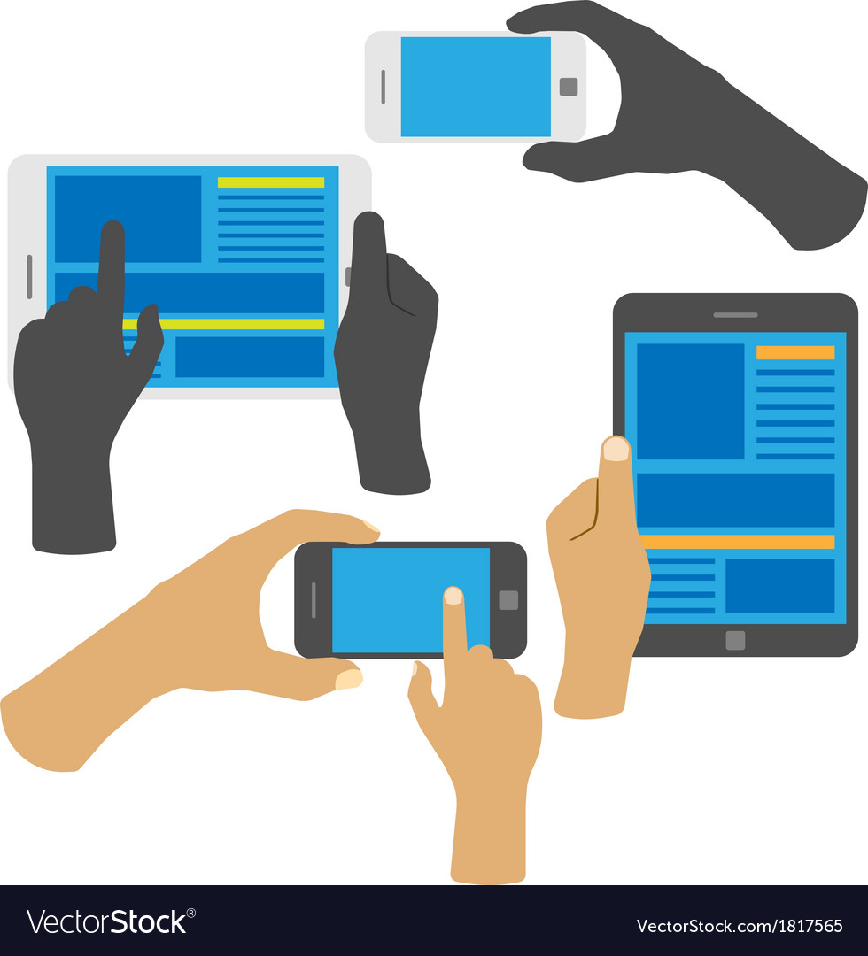Smartphone and tablet vector