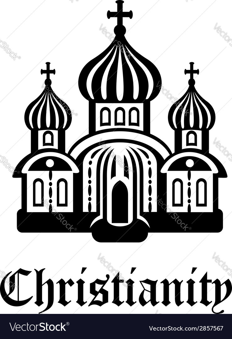 Christianity temple or church vector
