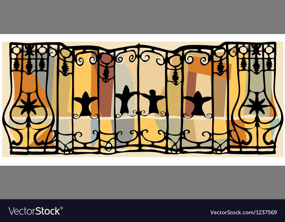 Antique railings vector