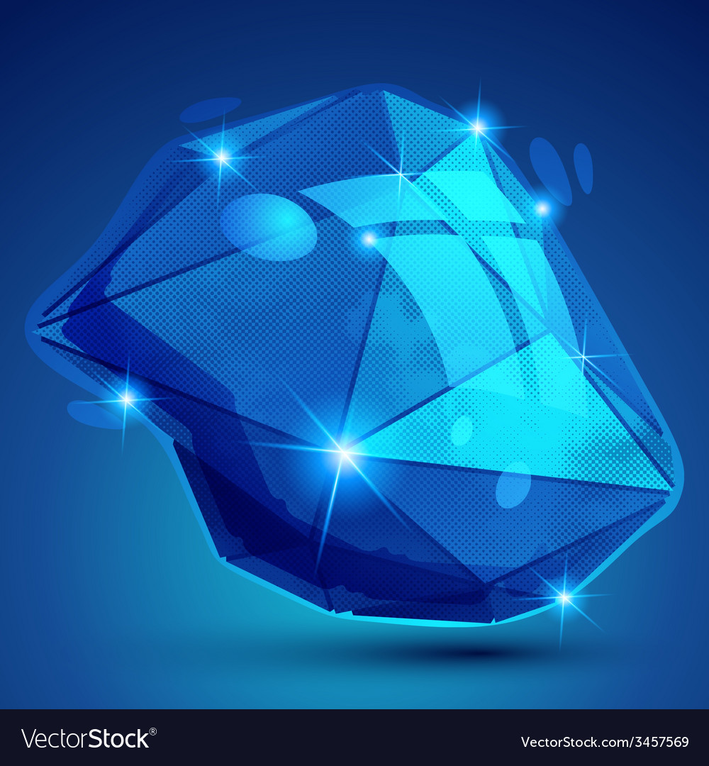 Futuristic object with sparkling effect vector