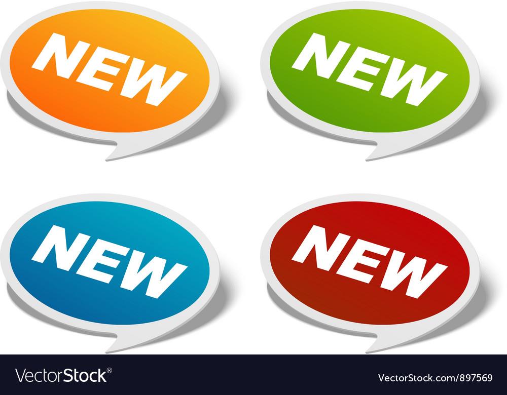 Sale stickers set vector