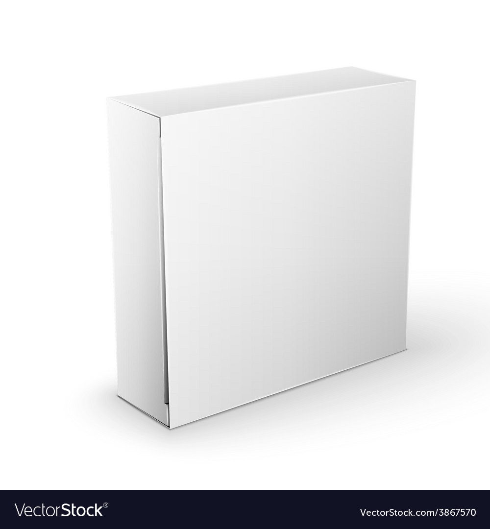 White product package box mock up template vector