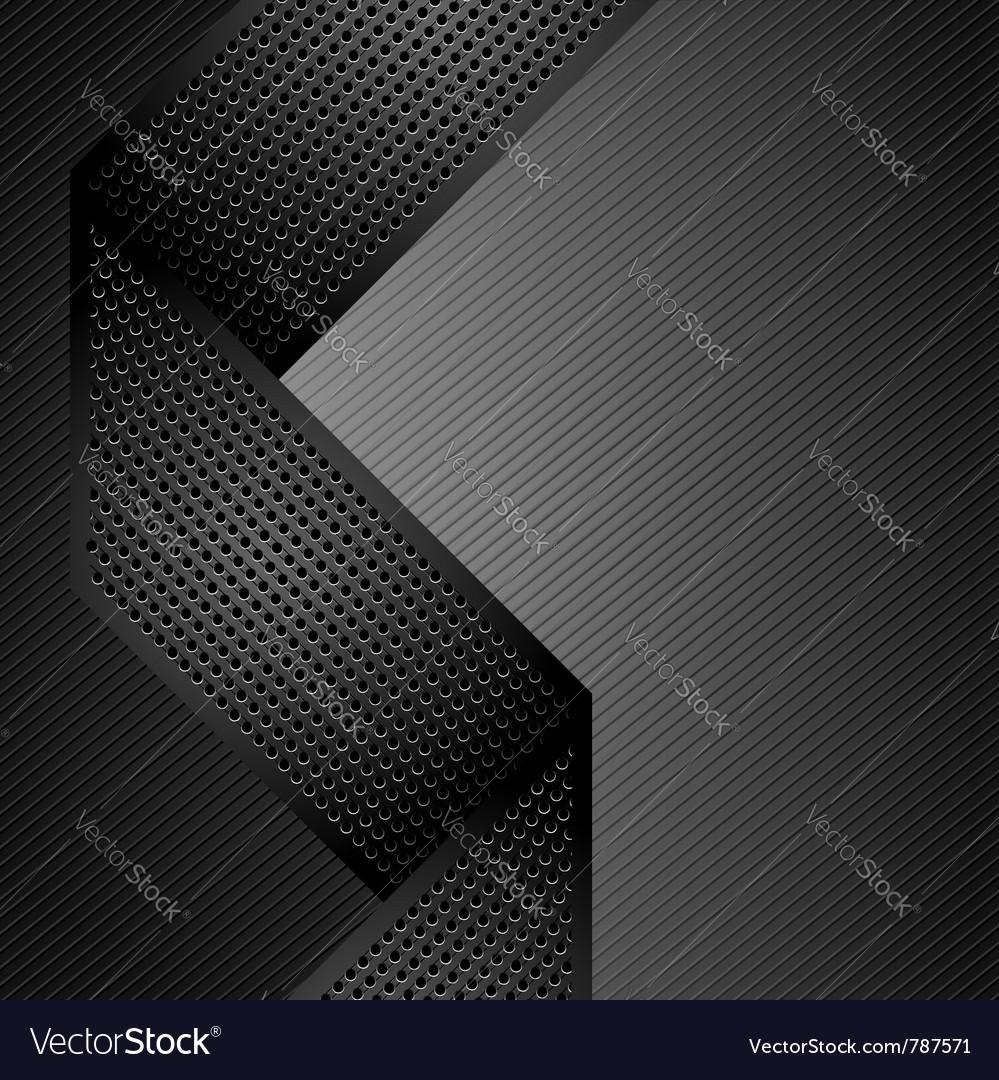 Metallic ribbons on gray corduroy background vector