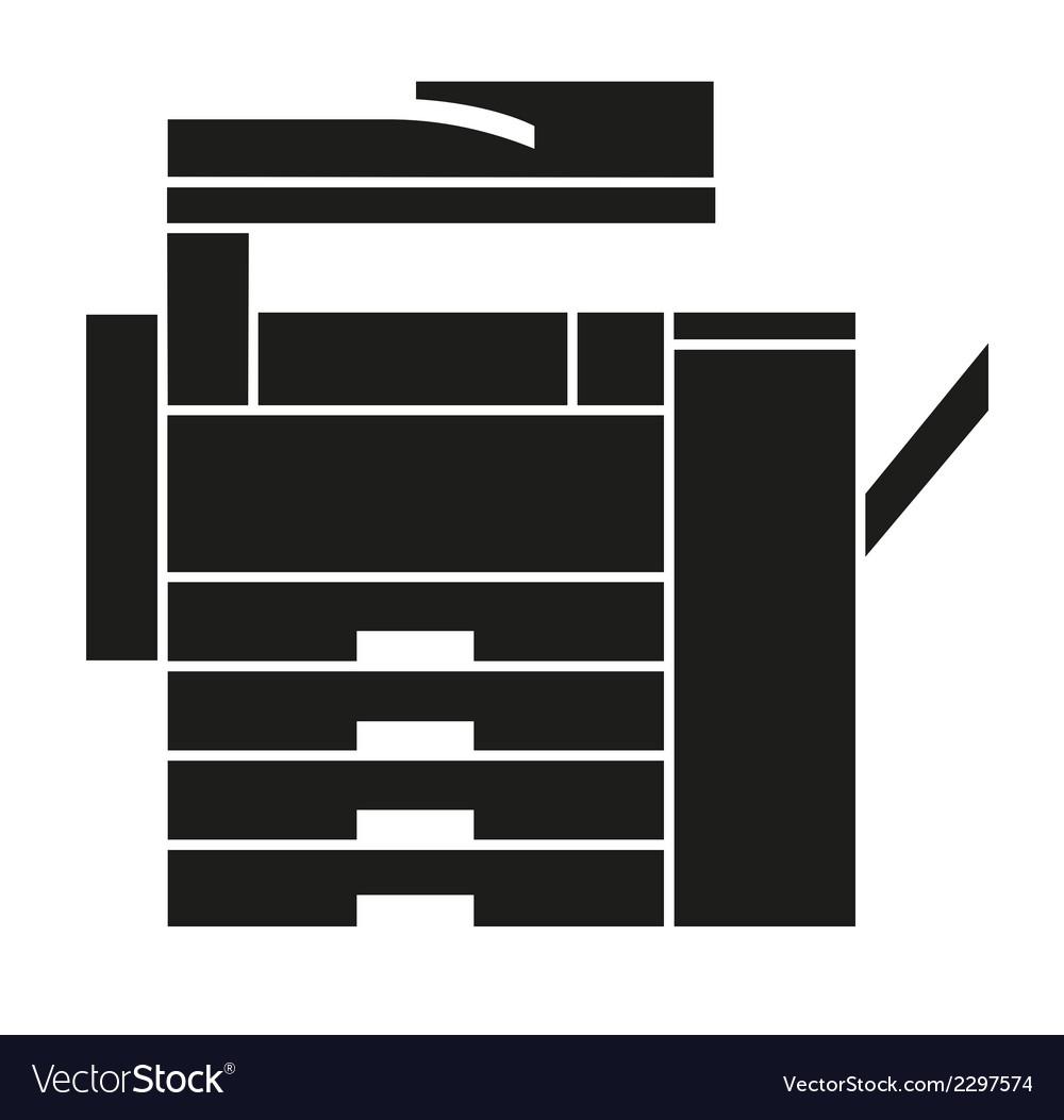 Copy machine icons logo symbol vector