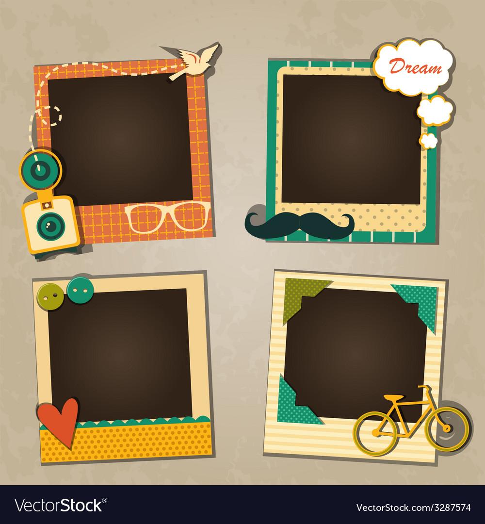 Decorative template frame vector