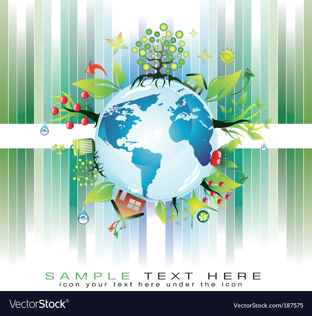Global nature background vector