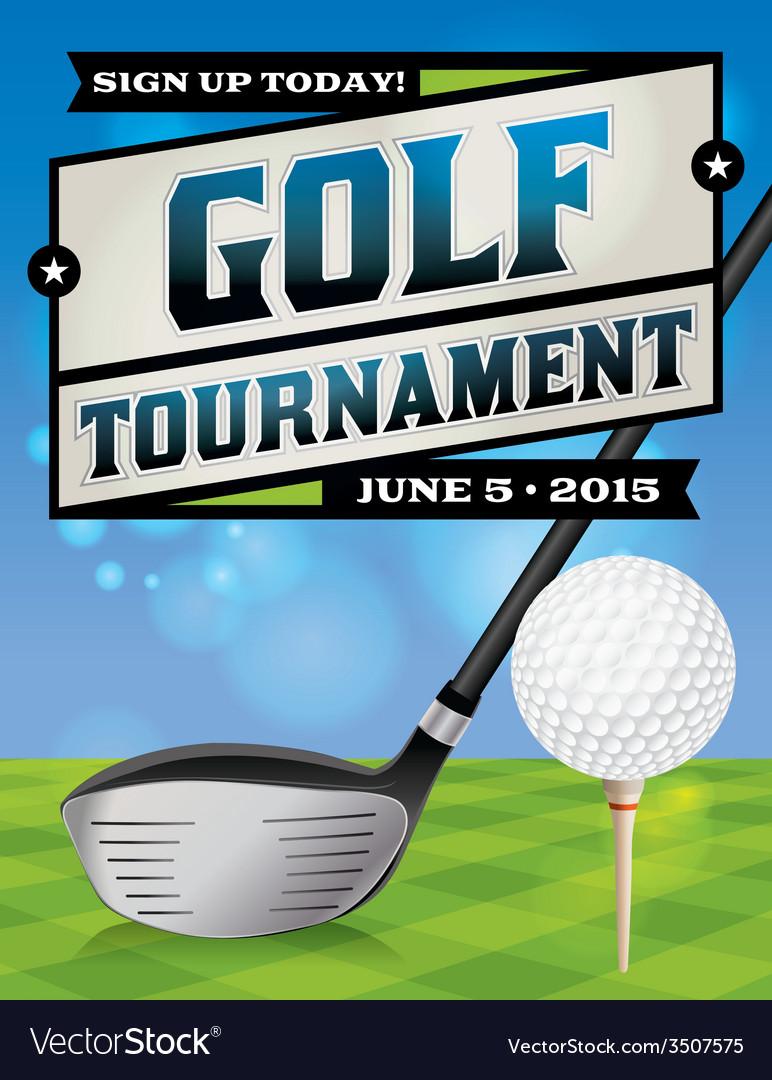 Golf tournament banner vector