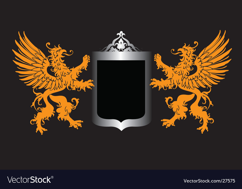 Retro royal shield vector