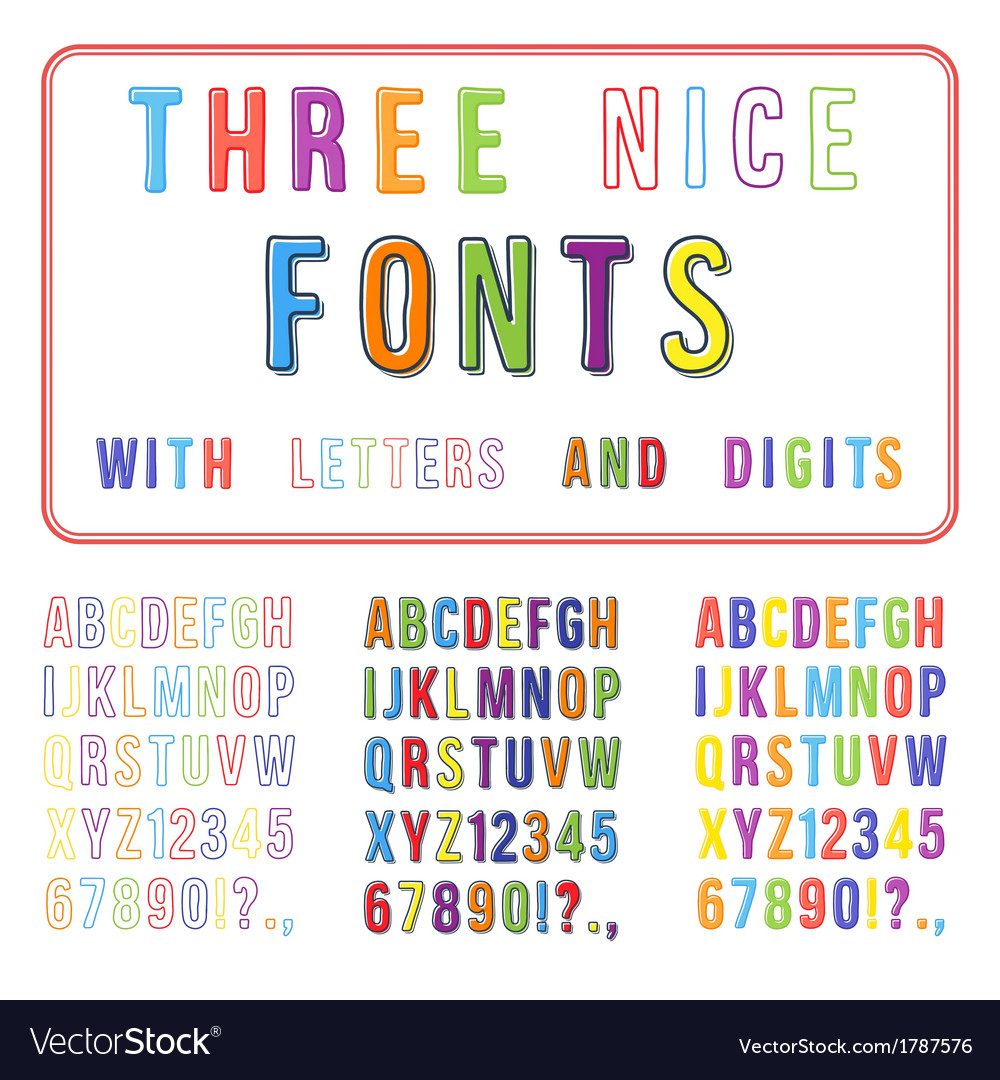 Hand drawn font set handwriting alphabet abc with vector