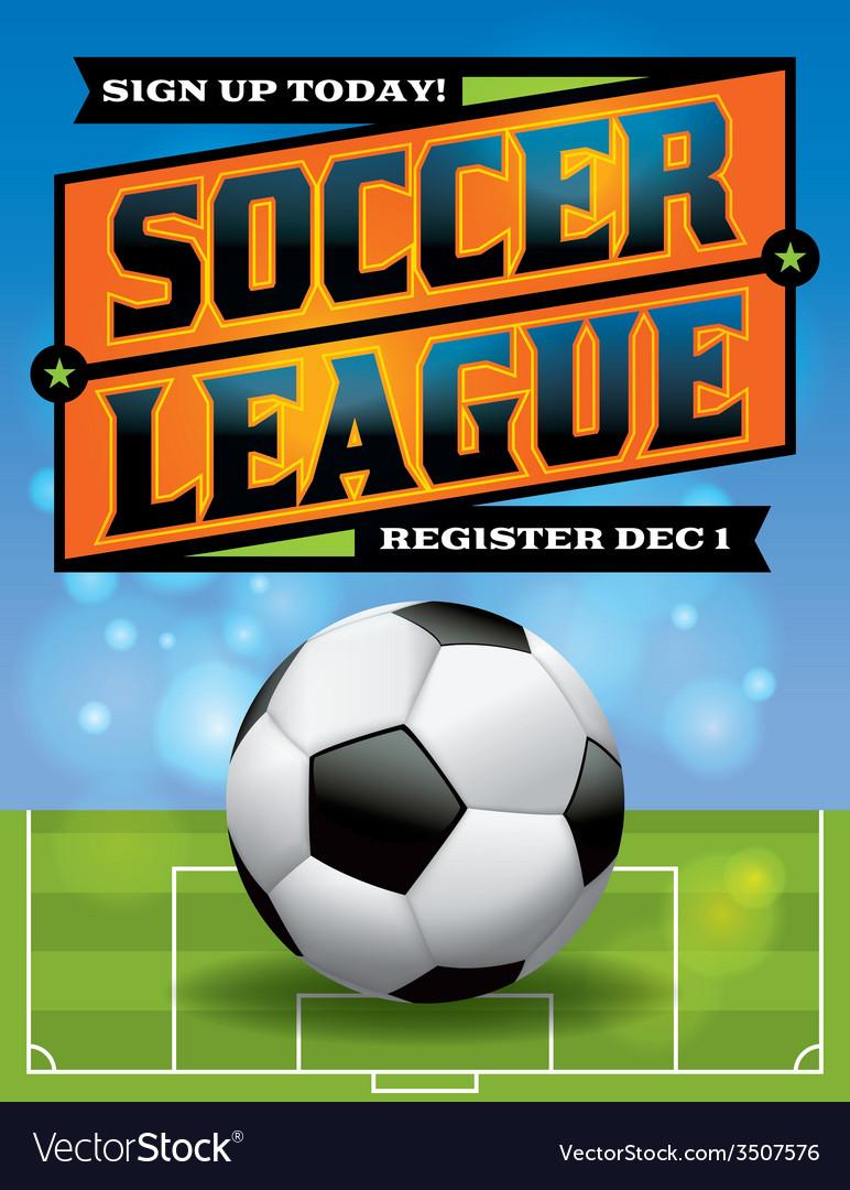 Soccer league flyer vector