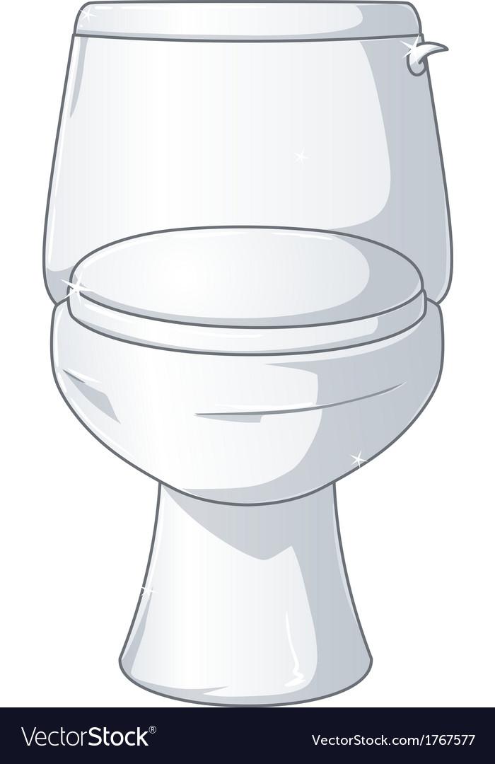 White shiny toilet vector