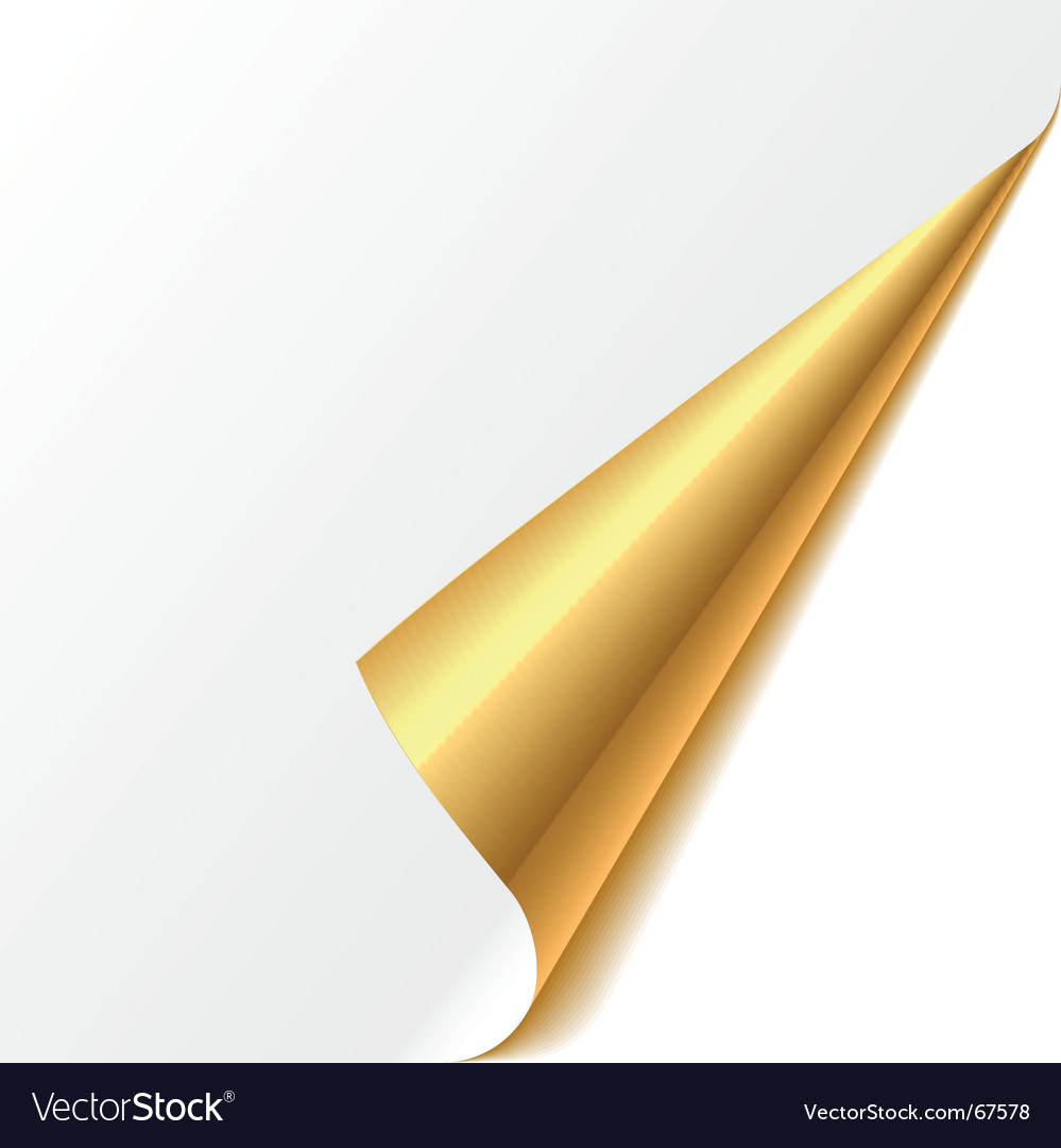 Turned edge gold vector
