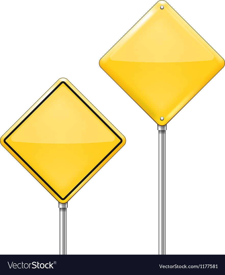 Empty warning sign vector