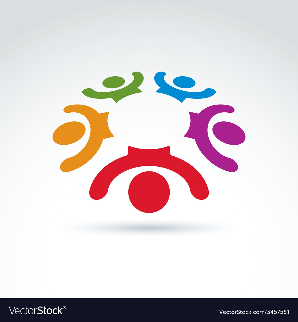 Teamwork and business team and friendship icon vector