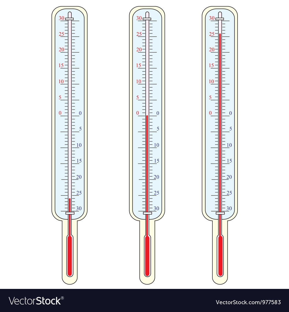 Thermometer shows a temperature vector