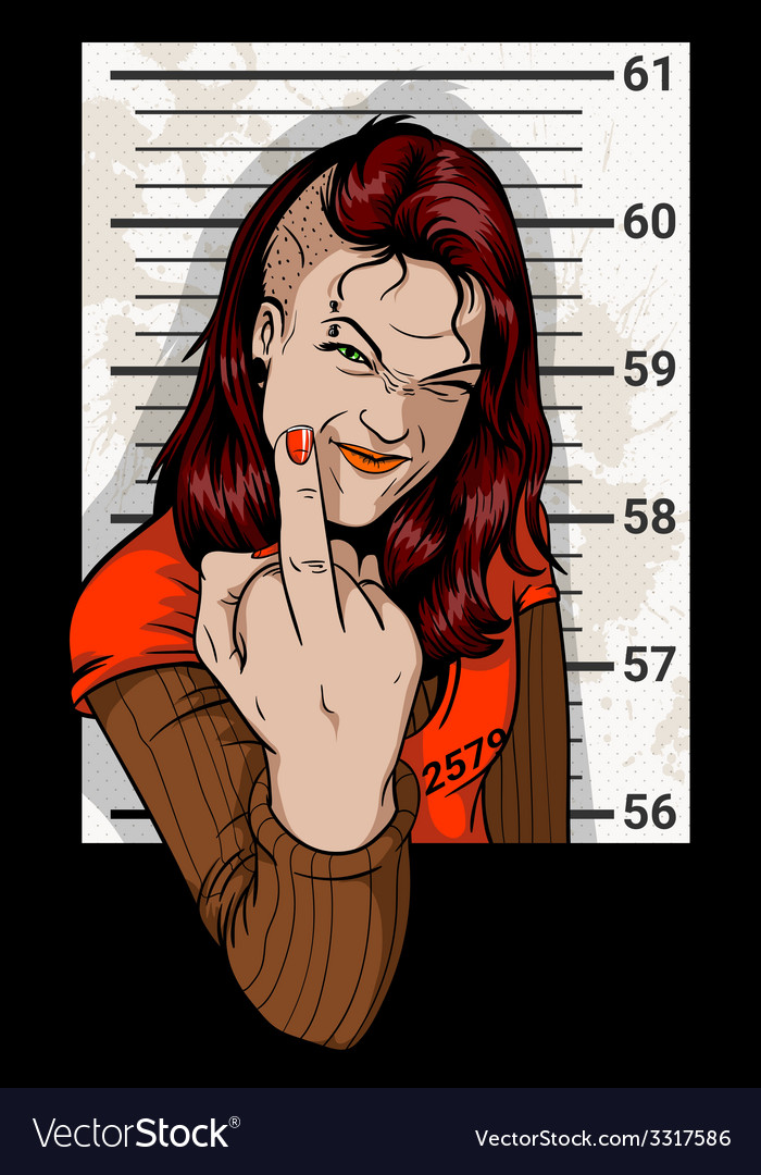 Criminal mug shot vector