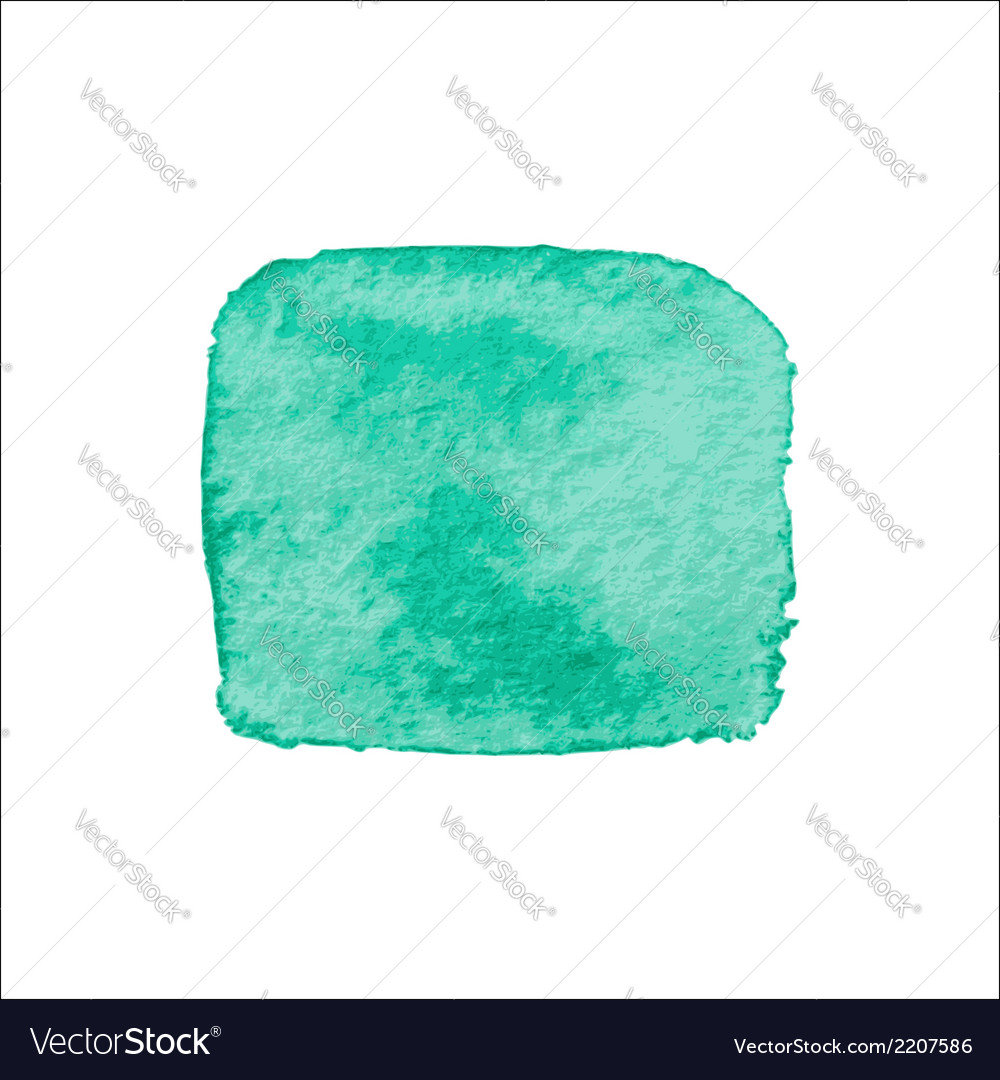 Green square watercolor banner vector