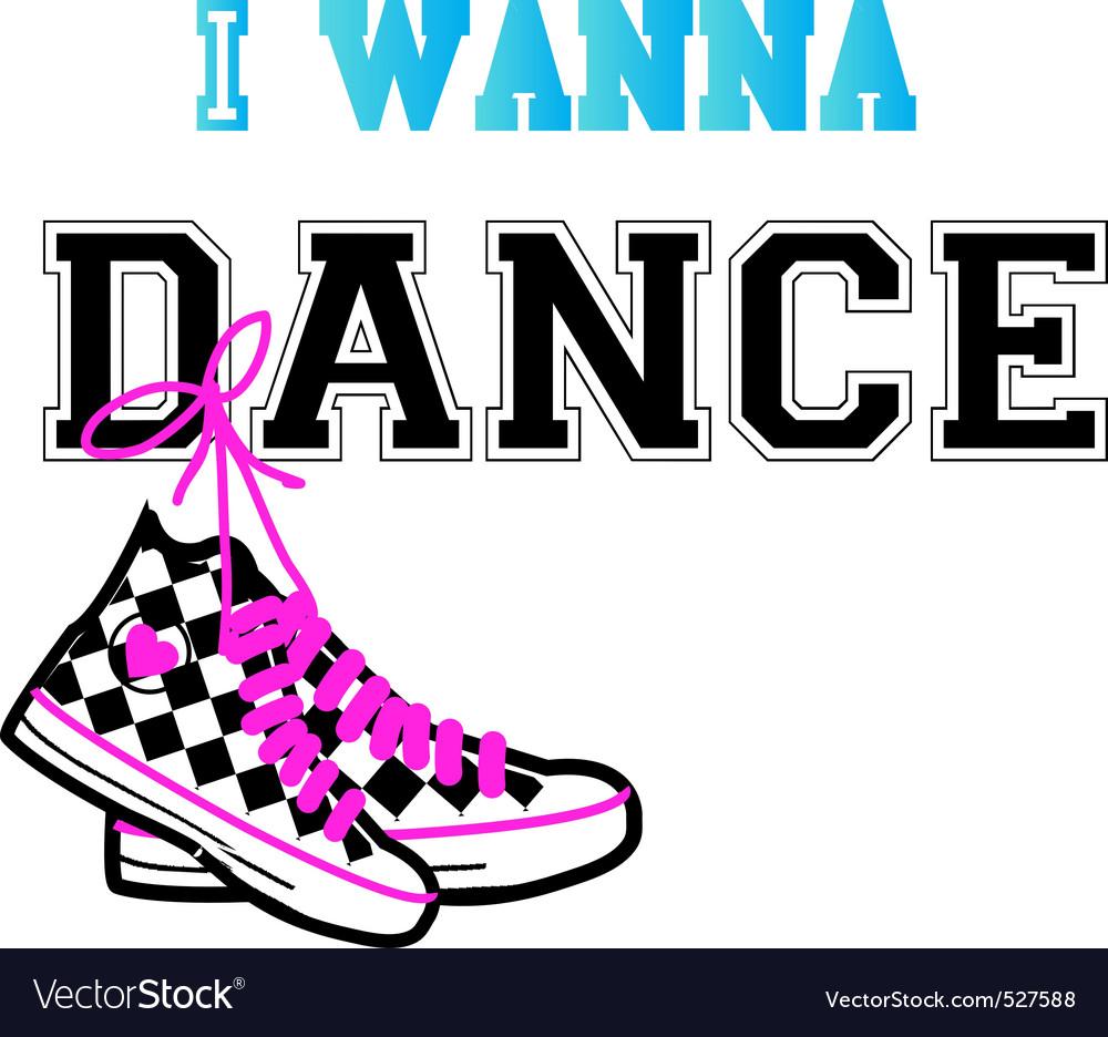 Dance design vector