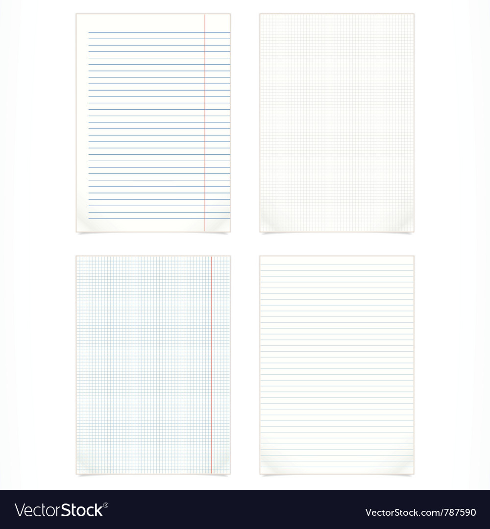 Set of four blank pages vector