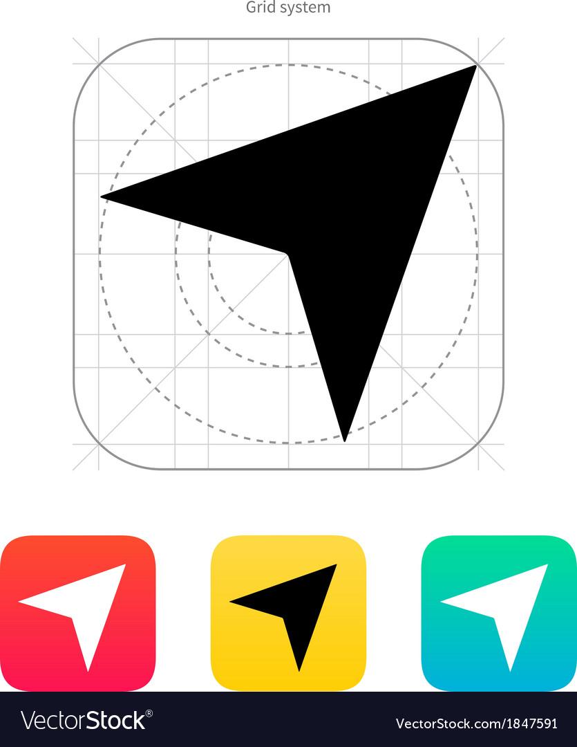 Direction arrow icon vector