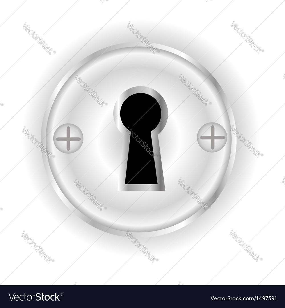 Key hole vector