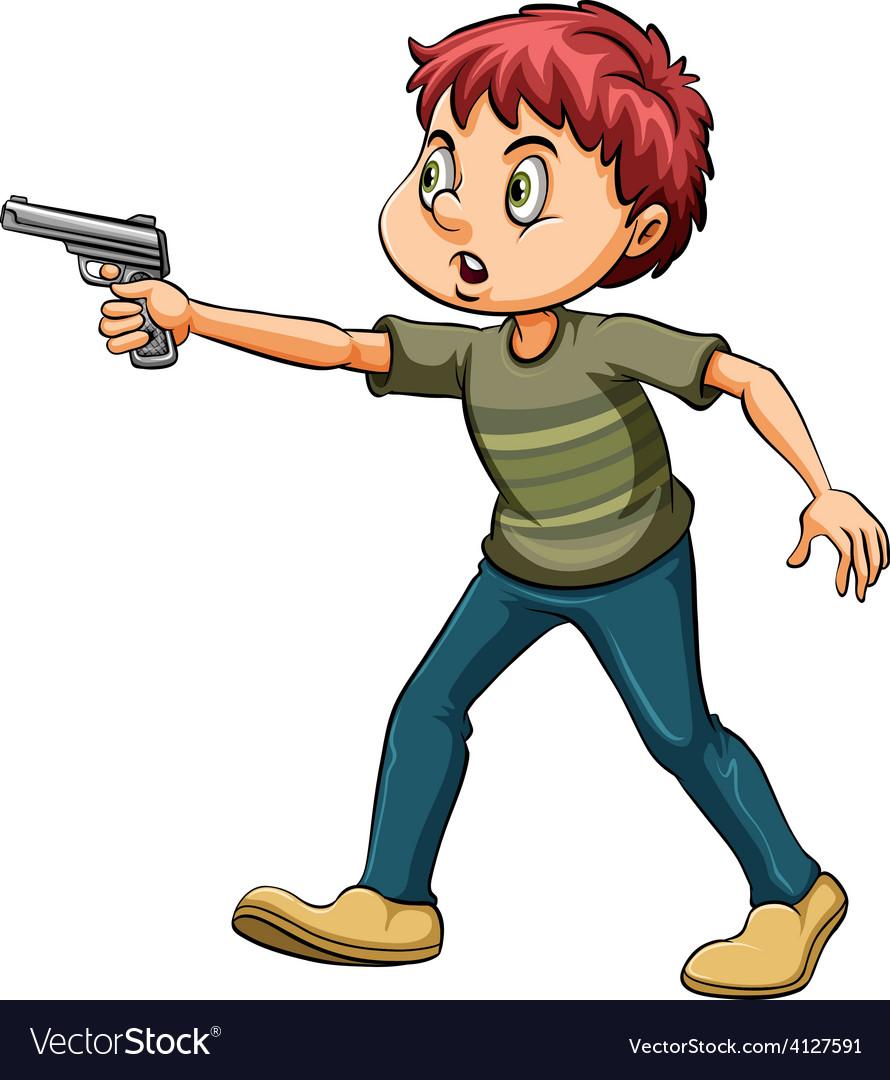 Man with a gun vector