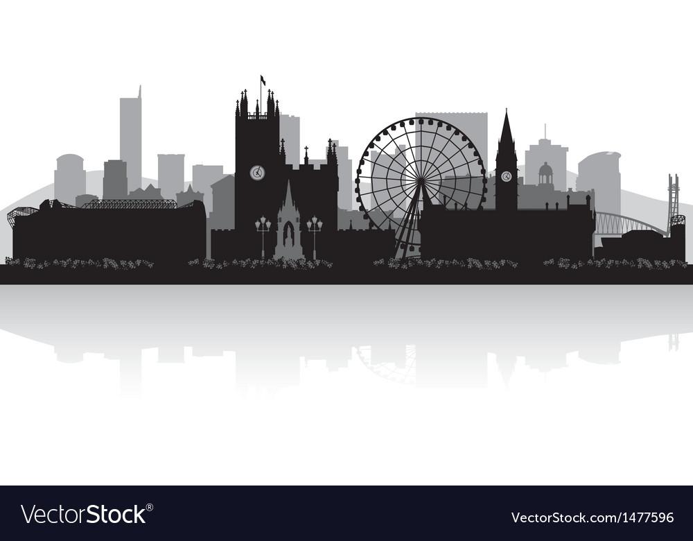 Manchester city skyline silhouette vector
