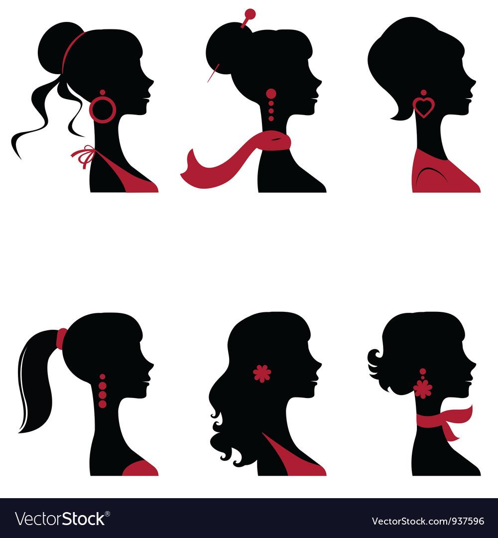 Women silhouettes vector