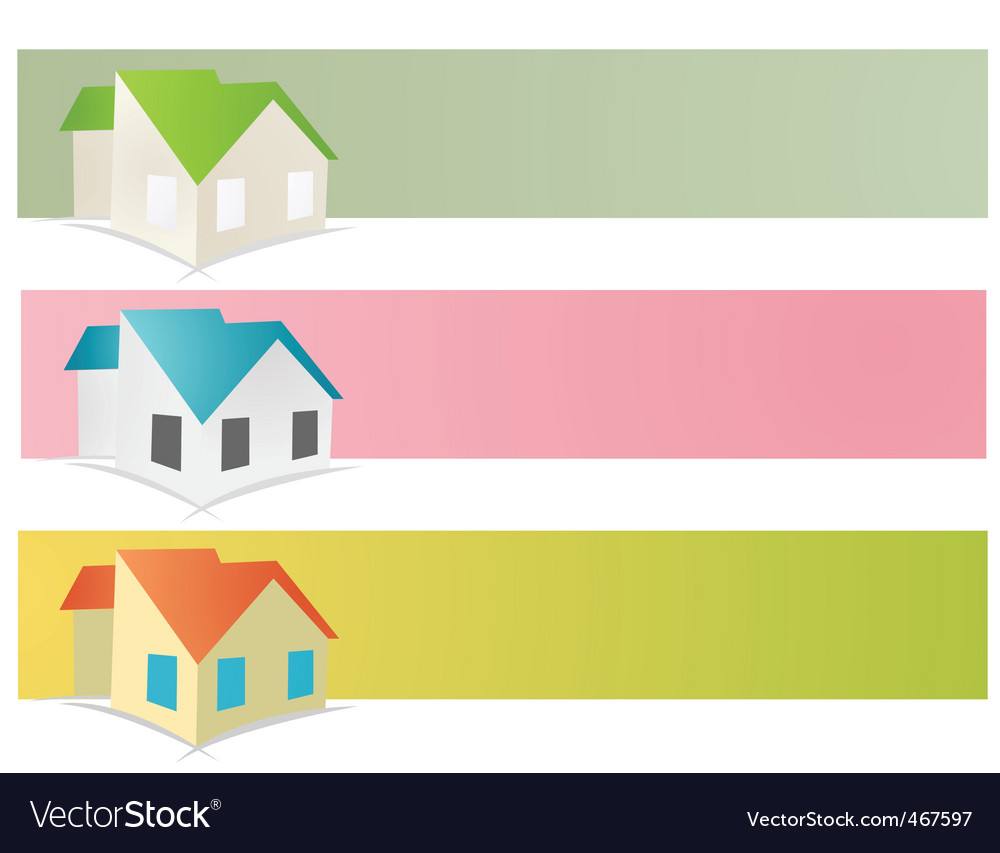 Residence banners vector