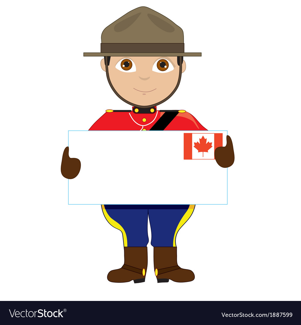 Canada sign boy vector