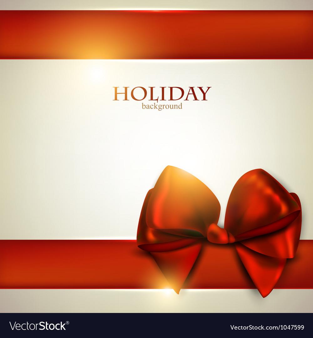 Christmas bow card template vector