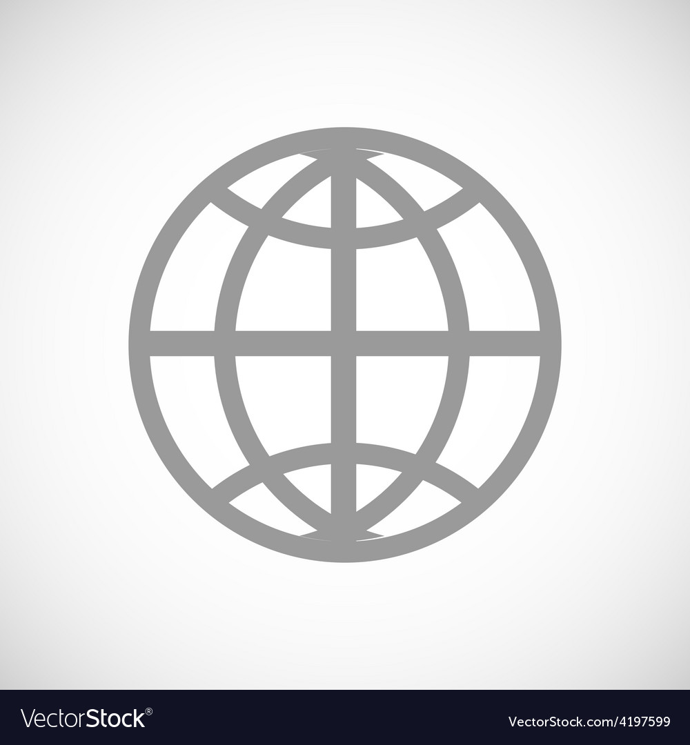 World black icon vector