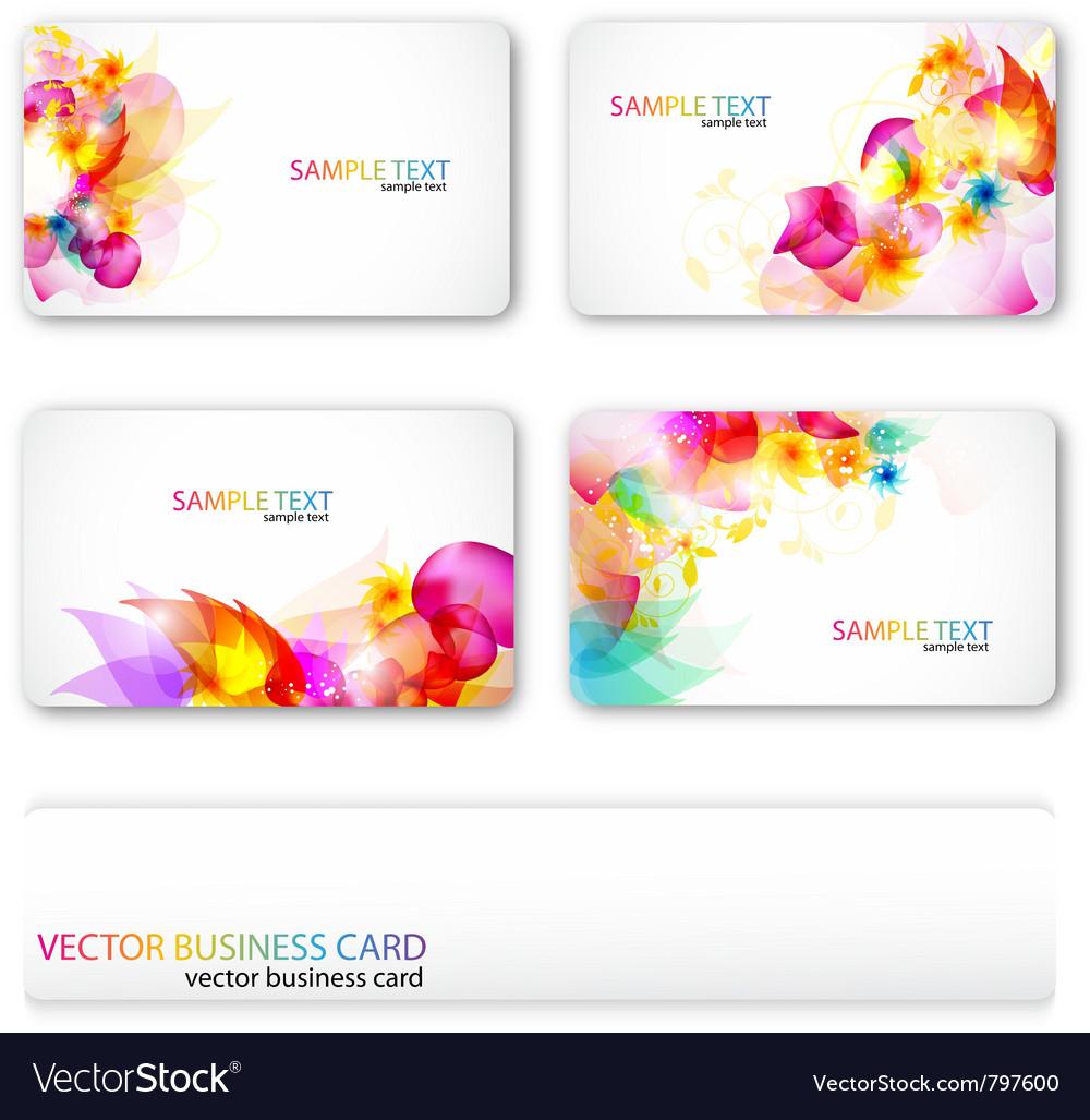 Modern business-card set vector