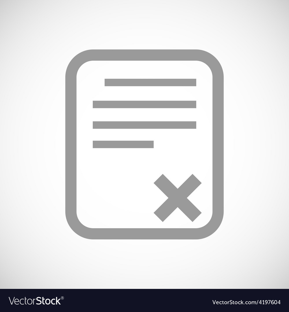 Bad document black icon vector