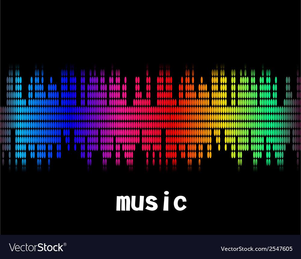 Music colorful equaliser bar in black background vector