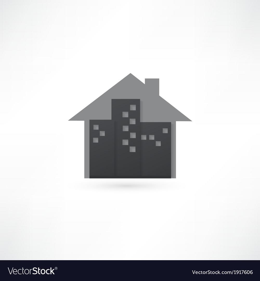 Modern real estate buildings design vector
