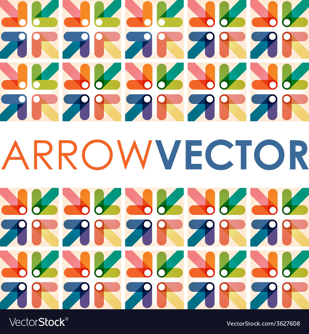 Arrow square vector