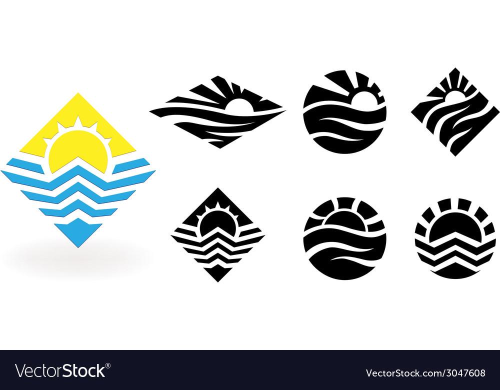 Travel logo design template vector