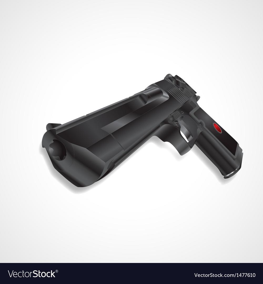 Black pistol handgun vector